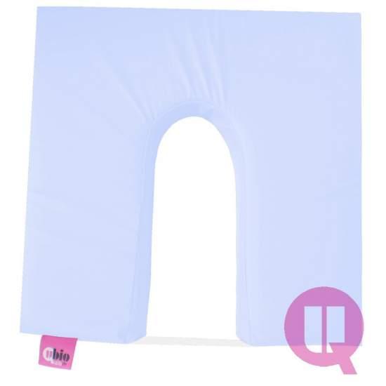 Cojin de viscoelástica 42x42x08 MAXIC. HERRADURA azul celeste