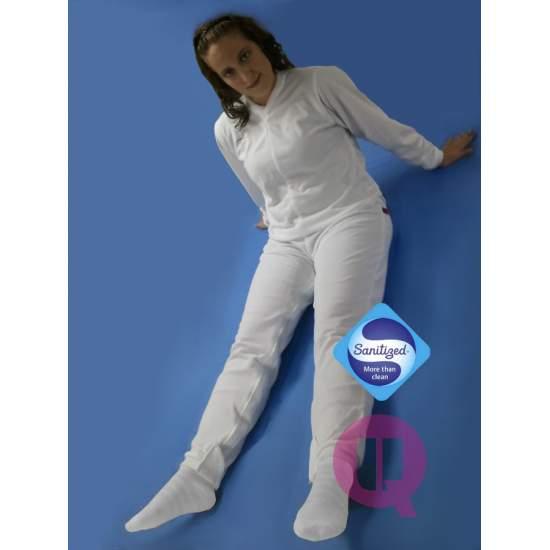 Pijama antipañal LARGO / MANGA LARGA BLANCO Tallas S - M - L - XL – XXL