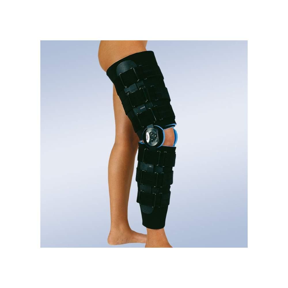 Ortesis de rodilla post-quirurgica flexo-extensión larga