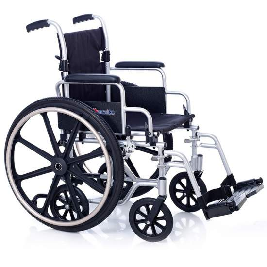 Silla de ruedas de aluminio tránsito OXFORD  6 RUEDAS
