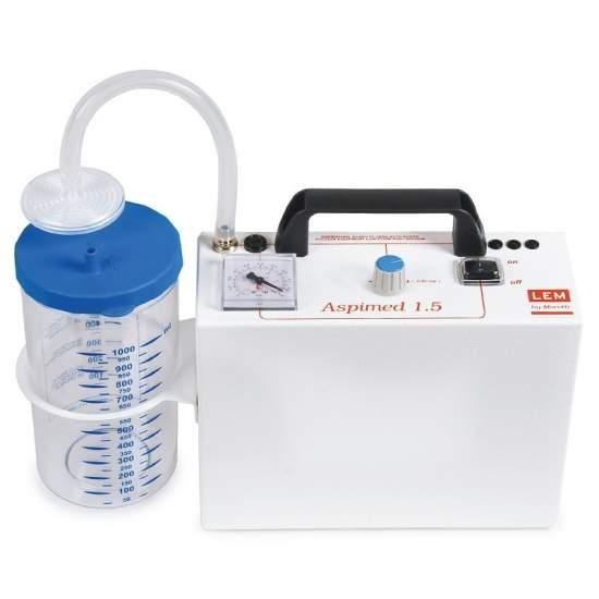 Aspirador secreciones portatil . Aspiración 18 litros minuto.