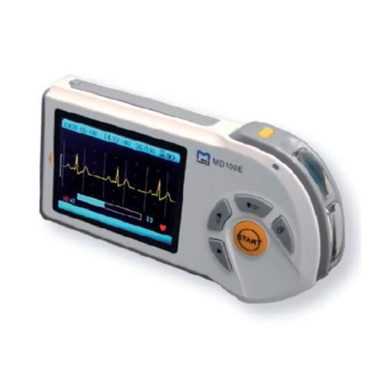 Electrocardiografo portatil de 1 canal con pantalla lcd a color