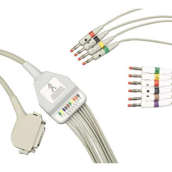 Cable de paciente para electrocardiografo.