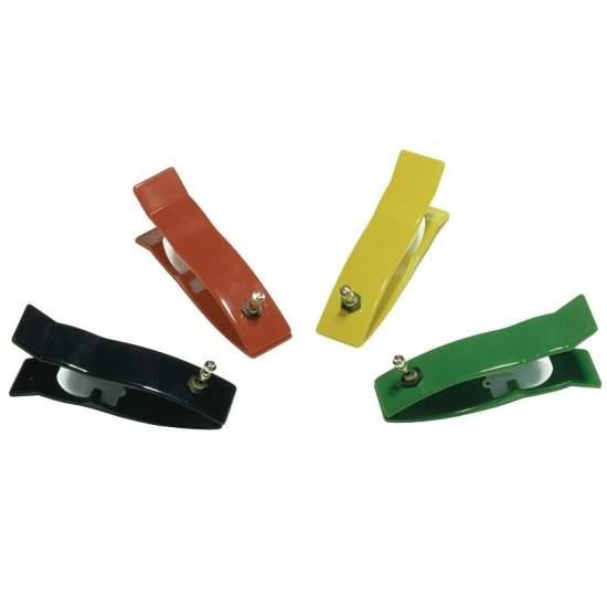 Electrodos extremidades tipo pinza para electrocardiografo pediatricos. Conexion universal 4 piezas.