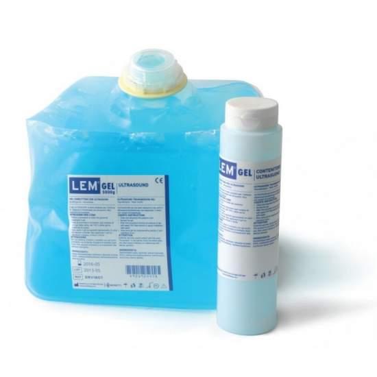 Gel ultrasonidos 5 kg color azul. Con dispensador rellenable de 260 gr.