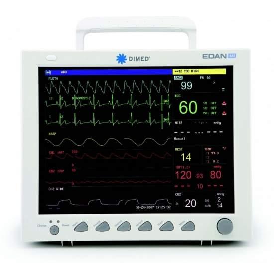 Monitor de paciente multiparametrico con impresora de tres canales.