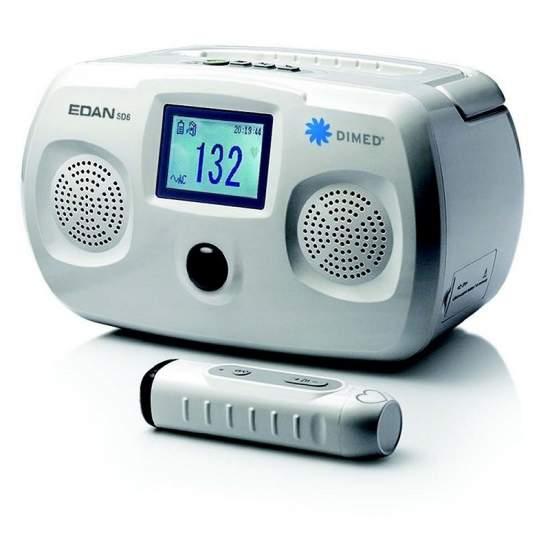 Doppler de ultrasonidos portatil con bateria con sonda de 2mhz sin cable.