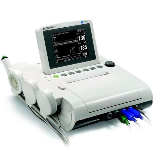 Monitor fetal con pantalla en b/n portatil gemelar pantalla lcd plegable de 5.6 pulgadas