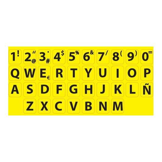 Adhesivos de alto contraste para teclado estándar