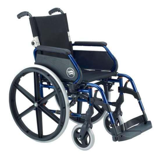 Breezy 250 - Silla de ruedas de acero plegable respaldo partido