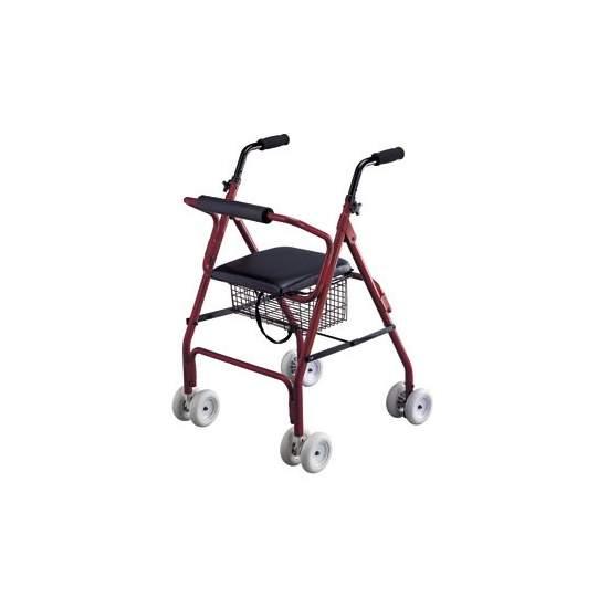 Andador rolator de aluminio con freno