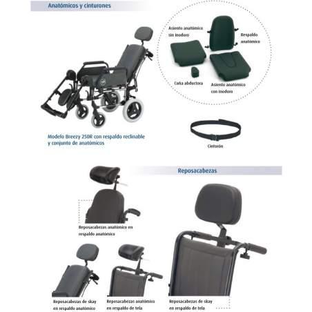 Silla de ruedas Breezy 250 respaldo standard-G