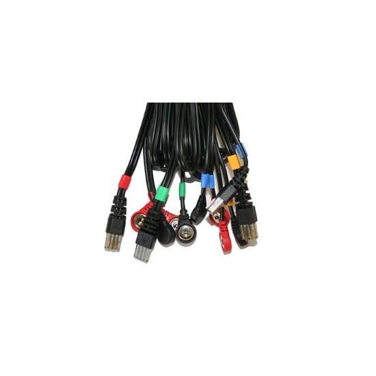 Cables COMPEX conexión Snap 8P