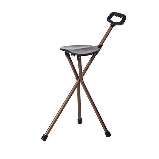 Bastón con asiento 3 patas