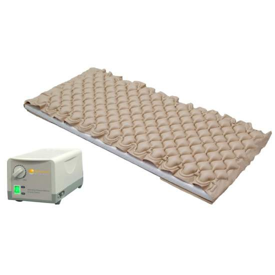 Colchón de aire antiescaras con compresor con regulación de presión