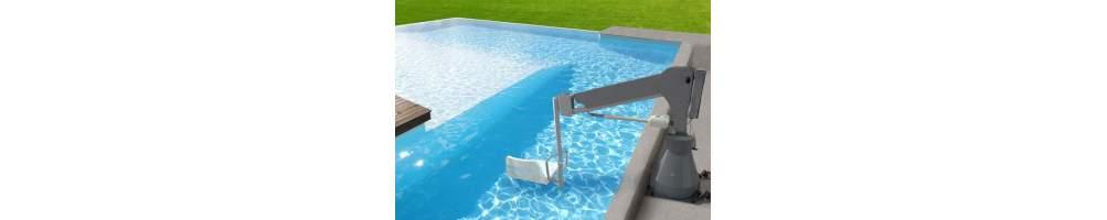 Grúas para piscinas