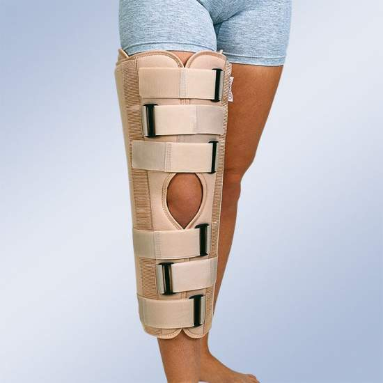 Orthotic knee immobilizer...