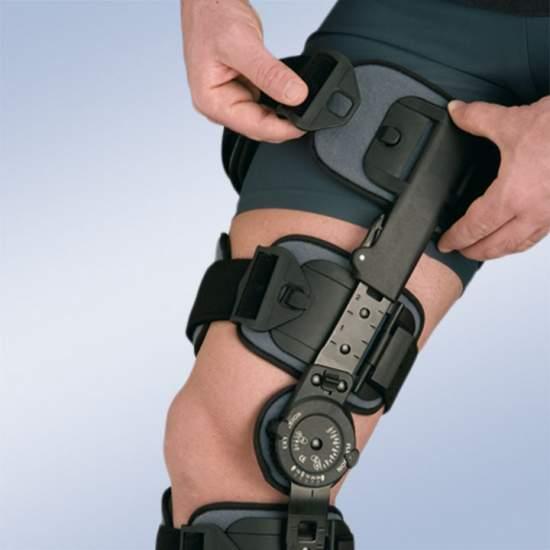 Knie-orthese met slot (2...