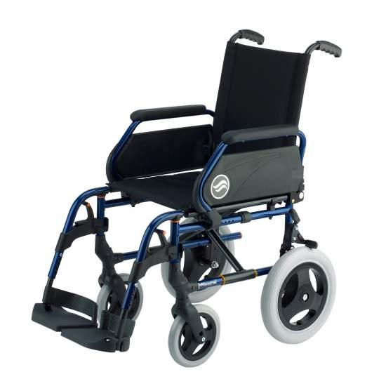 Breezy 250 - Klappbarer Rollstuhl aus Stahl, nicht selbstfahrend