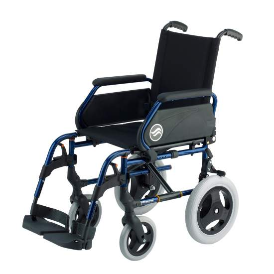 Breezy 250 - Vouwbare stalen rolstoel, niet zelfrijdend