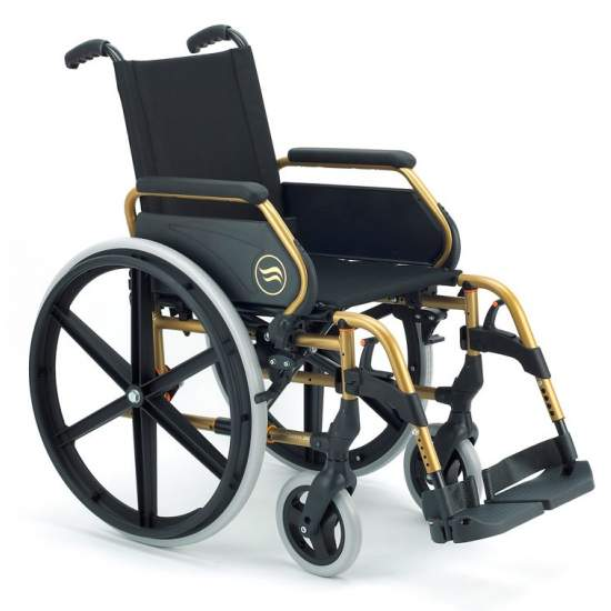 Breezy 250 - Opklapbare stalen rolstoel