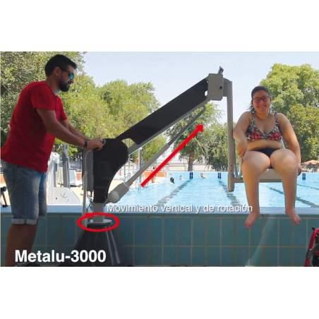 Aquatic lift with fixed battery Metalu 3000