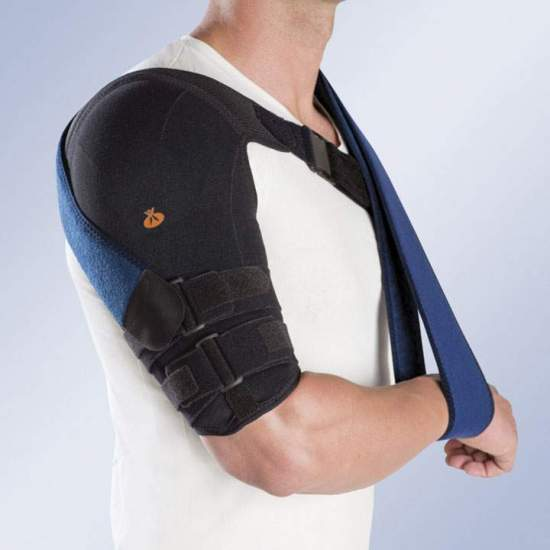 HUMEROUS BRACE IN THERMOPLASTIC MIT NORMALEM TEXTIL-FUTTER