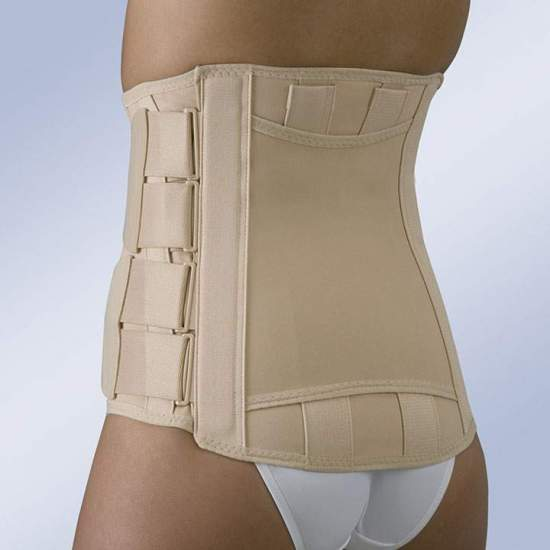 SEMIRRIGATED SACROLUMBAR BELT WITH VELCRO HIGH FX-212 CLOSURES