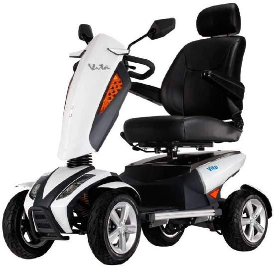 Scooter i Vita van Apex