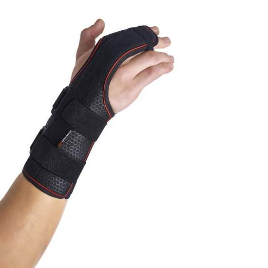 Semi-rigid wrist band with...