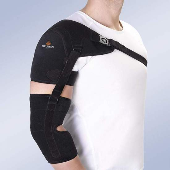 Shoulder support with arm...