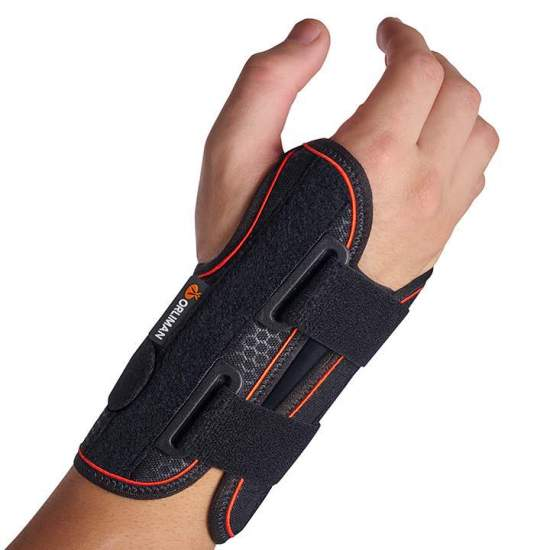 Semi-rigid wrist strap with...