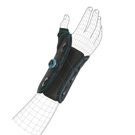 Rigid wrist brace with...