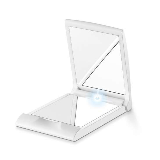 Pocket mirror with light
