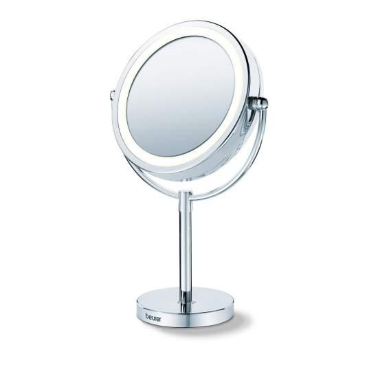 Cosmetische spiegel met voet en licht
