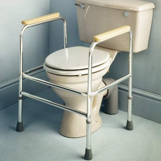 Auxiliary aluminum armrest for wc