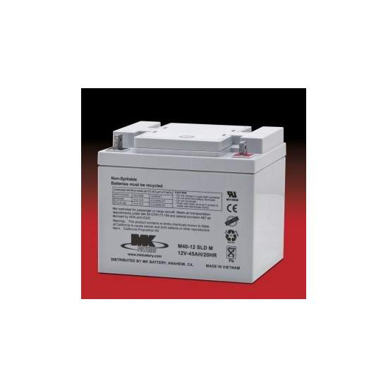 Baterias AGM 40 Amph (par) - MK Powered M40-12 SLD M