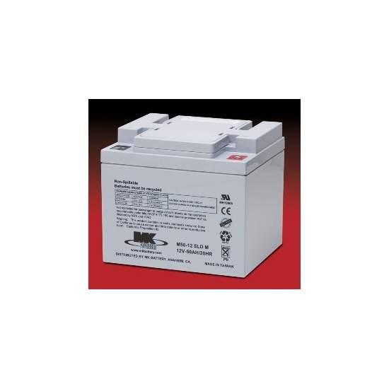 Baterias AGM 50 Amph - MK Powered M50-12 SLD M