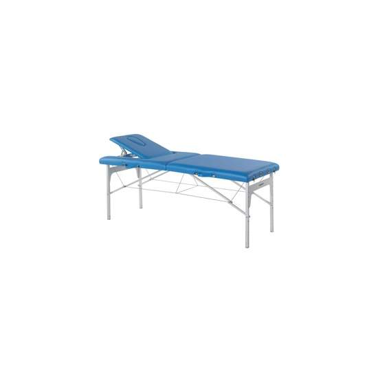 Folding stretcher with aluminum legs