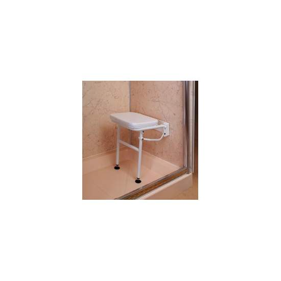 Folding shower chair with...