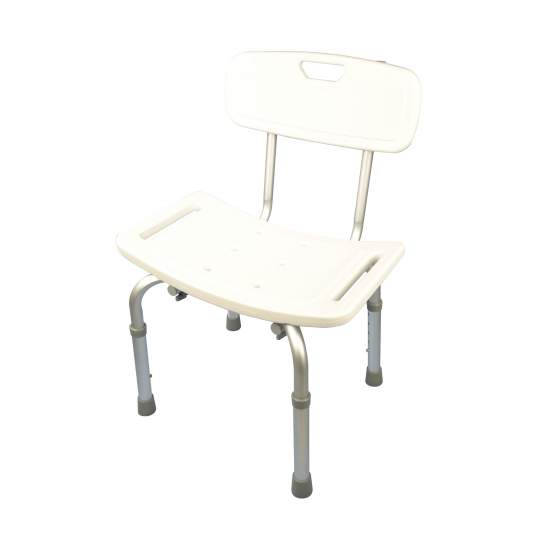 Aluminum shower stool with...