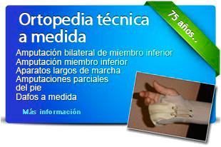 Ortopedia técnica a medida